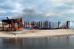 Remains of Beach House after Fire