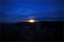 Moon Rise from Grand Canyon Rim