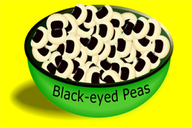 Bowl with Black-eyed Peas