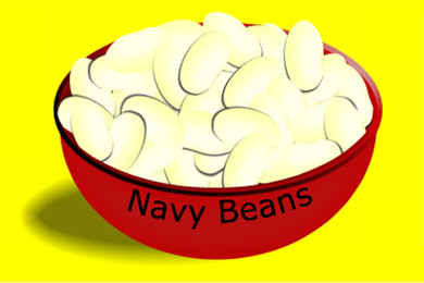 Bowl with Navy Beans