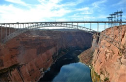 Colorado River at Glen Canyon Dam