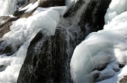 Ice on a Waterfall