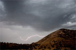 Lightning at Guadalupe Mountains National Park