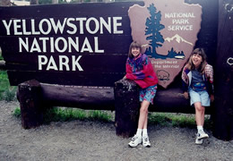 William Vann's daughters at Yellowstone National Park