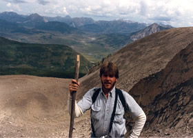 William Vann climbing a mountain in Crested Butte, Colorado